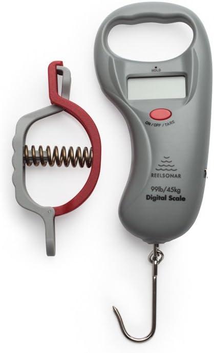 ReelSonar Digital Fish Scale Tape Measure 99lb/45kg and Fish Lip Gripper