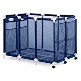 Pool Accessories - Balls and Outdoor Toys Storage Bin - Pool and Ball Storage Organizer with Nylon Mesh Basket | Hold Beach Towels - Linens and floatation Devices