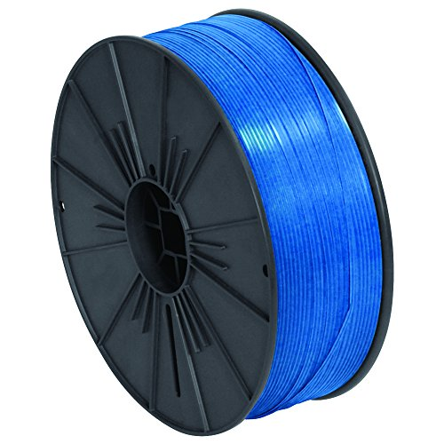 Ship Now Supply SNPLTS532B Plastic Twist Tie Spool, 5/32'' x 7000', 0.156'' width, Blue by Ship Now Supply