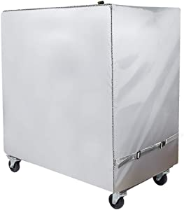 Cooler Cart Cover - Universal Fit for Most 80 QT,Waterproof Thickened Fabric,Rolling Cooler (Patio Cooler,Beverage Cart, Rolling Ice Chest) Protective Cover (Silver)