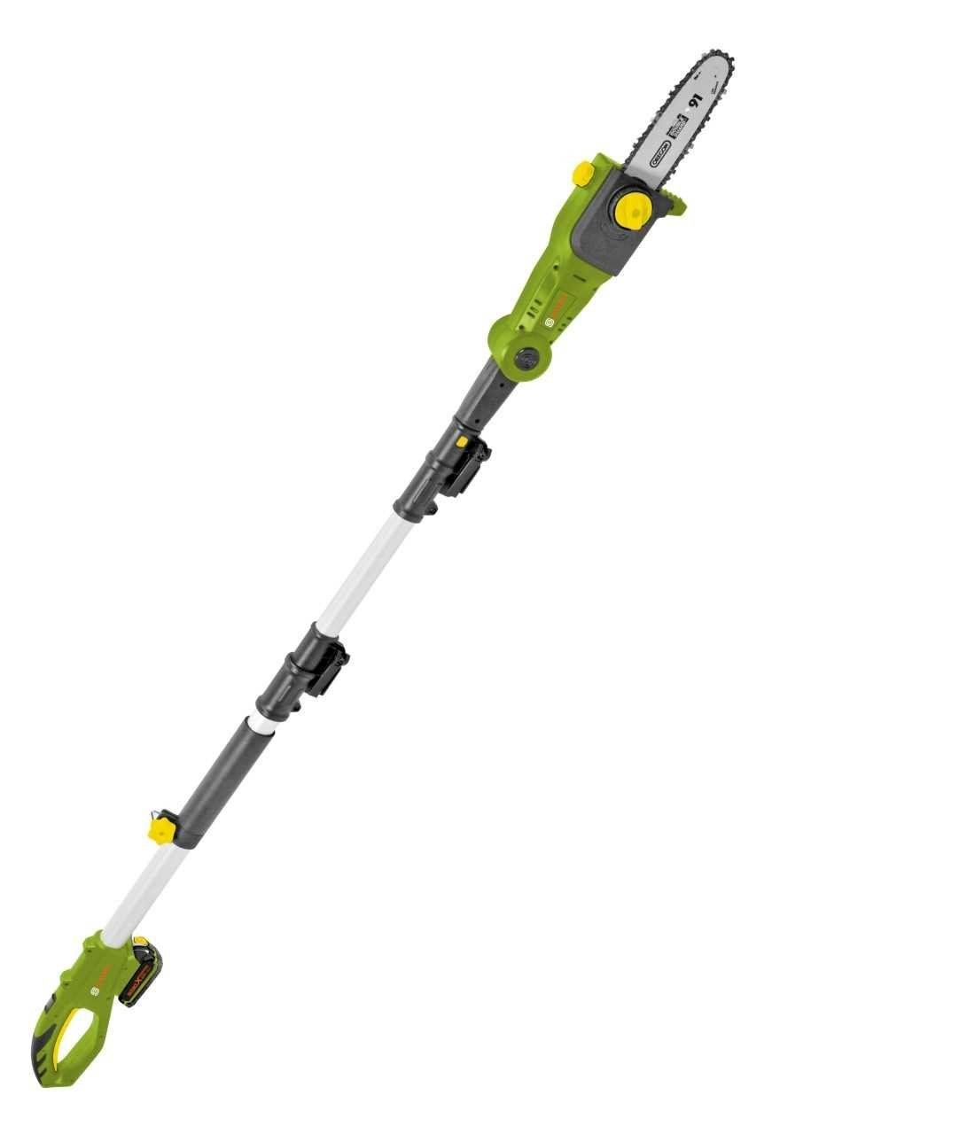 SmartEco 20V Lithium Ion Cordless 8-inch Telescoping Pole Saw with Automatic Chain Lubrication System (1x2.0Ah Battery & 1hr Fast Charger Included)