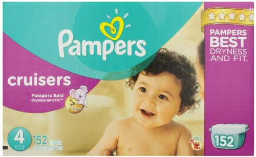 Pampers Cruisers Diapers Size 4 152 Count (old version) (Packaging May Vary)