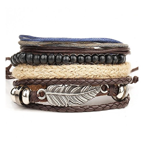 fariishta-jewelry-angel-wing-alloy-feather-wood-bead-hand-braided-rope-leather-wrap-bracelet