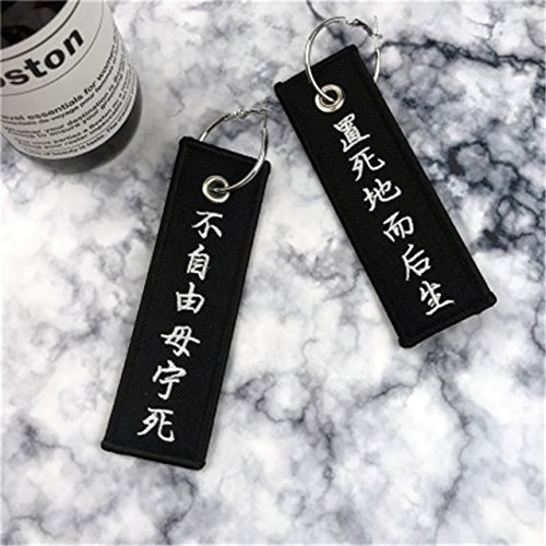 deft cat eaters women girls models exaggerated personality text embroidery long cloth embroidered earrings earings dangler eardrop ear hoop women girls fashion ear clip (liberty or give me death combi (Give Me Liberty Or Give Me Death Text)