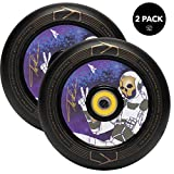 Fuzion Pro Scooter Wheels 110mm Hollow Core Stunt Scooter Sig Wheels with ABEC - 9 Bearings Pair (Spaceman Purple)