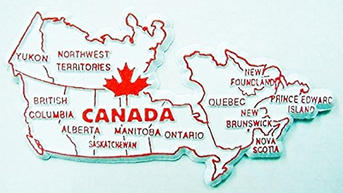 Canada Country Outline Fridge Magnet