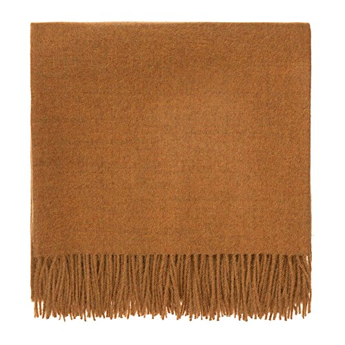 - URBANARA 100% Peruvian Baby Alpaca Wool Blanket Arica 51x73 Mustard - Simple Block Color with an Elegant Fringe - Throw for Sofa, Couch, Bed, Chair - as Soft as Cashmere
