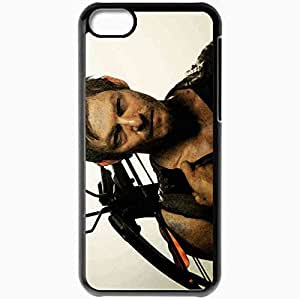Personalized iPhone 5C Cell phone Case/Cover Skin 2013 daryl dixon by cainag dqrly Black