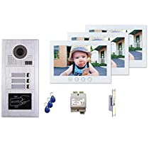 3 Tenant Apartment Building Entry Multitenant Video Intercom System 2 Wire Installation