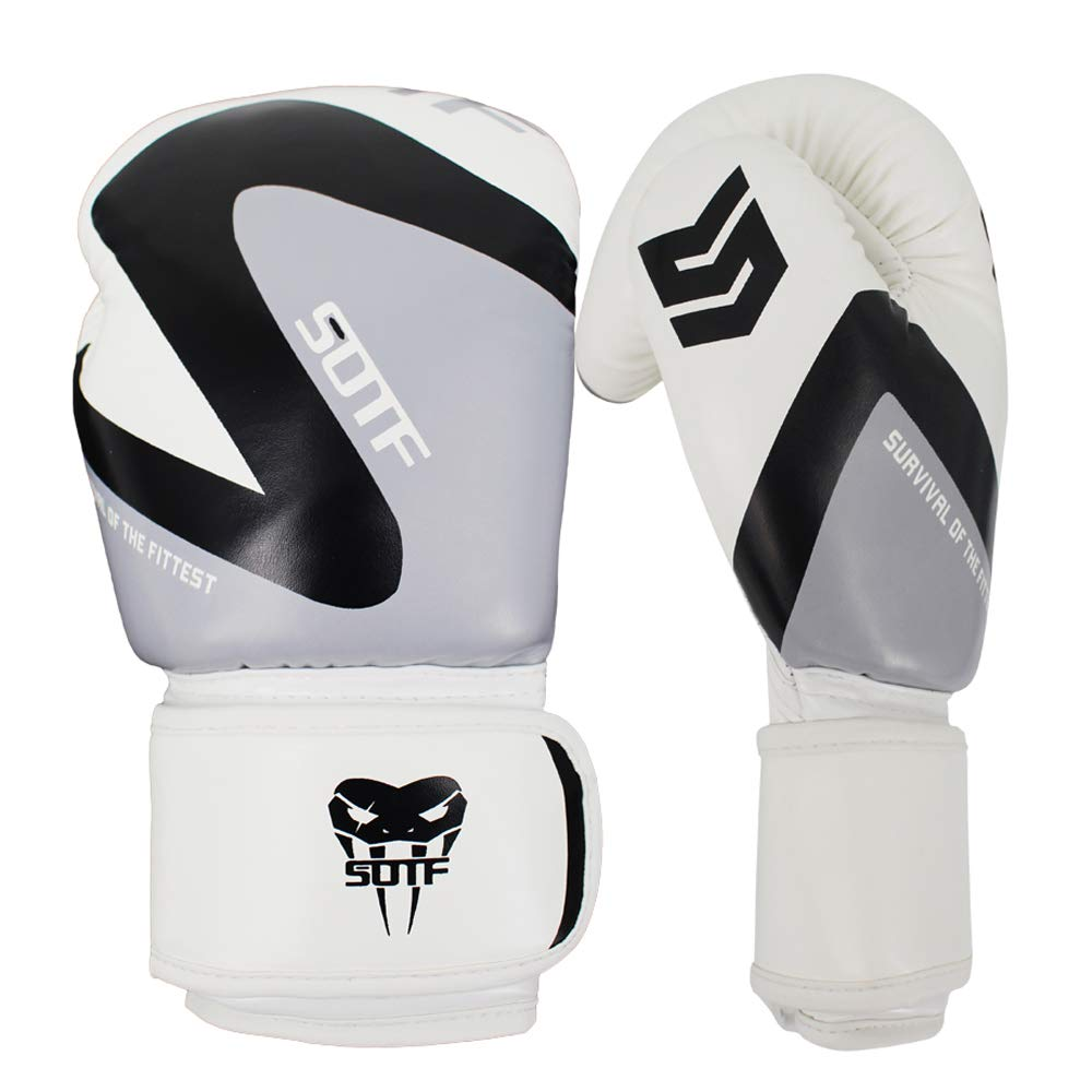 SOTF 軽量ボクシングパンチンググローブ MMA スポーツ ファイト トレーニングバッグ グローブ B07NV4ND6M ブラック 10oz