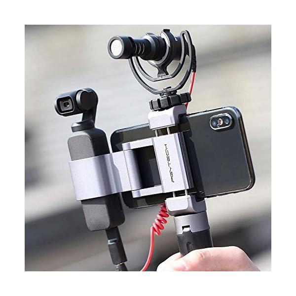 Hensych per PGYTECH per Osmo Pocket/Osmo Pocket 2 Phone Holder +,Porta telefono in alluminio pieghevole Plus Set di parentesi per telefono cellulare (larghezza≤90mm) 4 spesavip