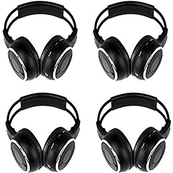 Amazon xo vision universal ir in car entertainment wireless 4 pack of key audio ir wireless two channel foldable headphone two channel folding adjustable universal rear entertainment system infrared headphones for fandeluxe Images