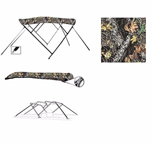 8oz 4 Bow Camouflage Mossy Oak Break UP CAMO Boat Bimini TOP Sunshade for SEA RAY 190 SUNDECK W/EXTD SWPF 2001-2002