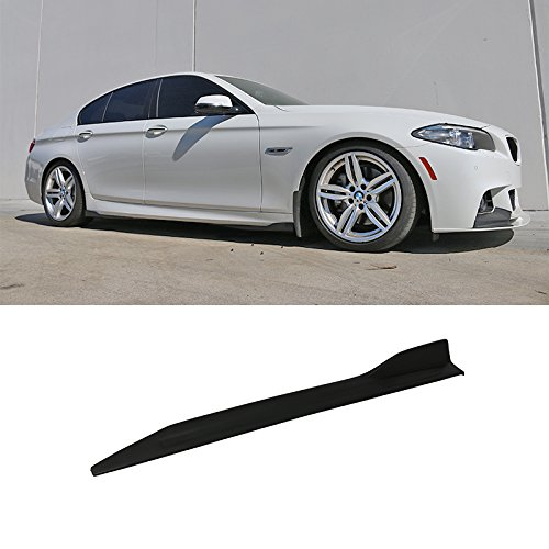 Universal Side Skirt | V5 Style Unpainted Black Polyurethane (PU) Spoiler Extension Winglet Wind Blades Rocker Splitter by IKON MOTORSPORTS ()