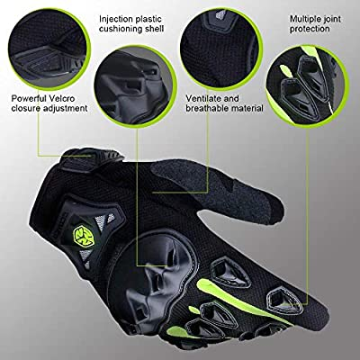 SCOYCO Breathable ATV Gloves,Antislip Knuckle Protective Shockproof Summer Motorcycle Gloves for Scooter/MTB (Green,XL): Automotive
