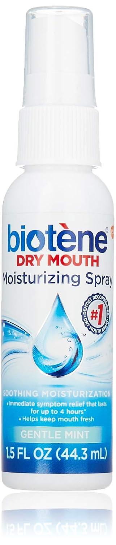 Biotene Moisturizing Mouth Spray Gentle Mint, 1.5 FL OZ (Pack of 4: Beauty