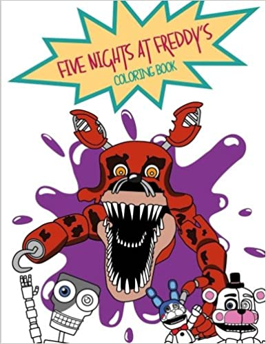 amazoncom five nights at freddys coloring book 9781548894757 melissa araya books - Five Nights At Freddys Coloring Book