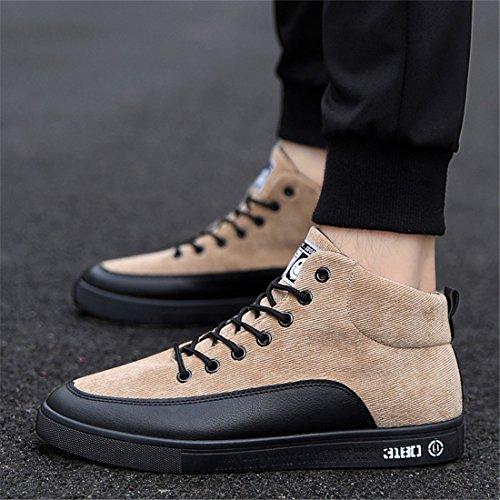 Uomo Outdoor Sport Running Scarpe Da Trekking Leggero Casual Sneakers 1696 Kaki