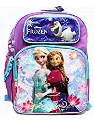 Full Size Purple and Blue Sisters Stick Together Disney Frozen Backpack
