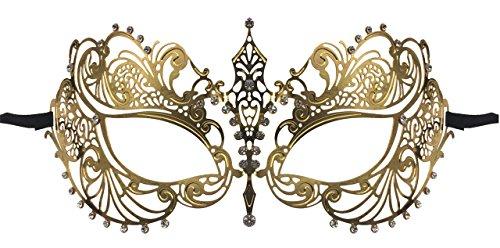 [Luxury Mask Women's Laser Cut Metal Venetian Pretty Masquerade Mask] (Mascarade Mask)