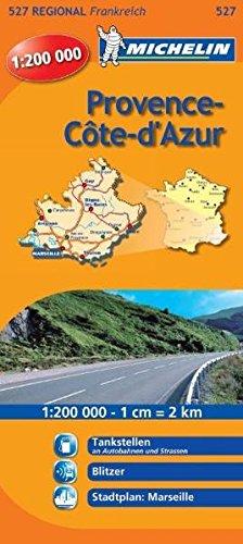 Michelin Provence Cote d'Azur: Straßen- und Tourismuskarte 1:200.000 (MICHELIN Regionalkarten, Band 527)