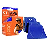 KT TAPE PRO Synthetic Elastic Kinesiology 20 PreCut Strips Therapeutic Tape, 10-Inch, Sonic Blue