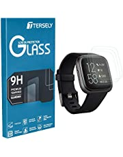 TERSELY Screen Protector for Fitbit Versa 2, (3 Pack) Fitbit Versa 9H Hardness Tempered Glass Screen Protector Saver Film Guard for Fitbit Versa 2 Watch (2019 Released)