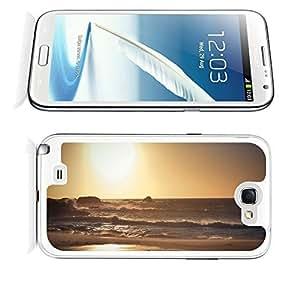 Tnianming Galaxy Note 2 case,Samsung Galaxy Note 2 Nature Beach Sunset AxVrt Sea