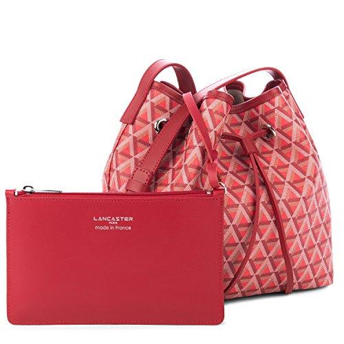 lancaster-paris-womens-41801rouge-red-canvas-shoulder-bag