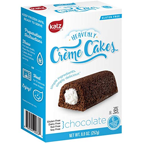 Katz Gluten Free Chocolate Crème Cakes | Dairy, Nut, Soy and Gluten Free | Kosher (1 Pack of 6 Crème Cakes, 8.8 Ounce)