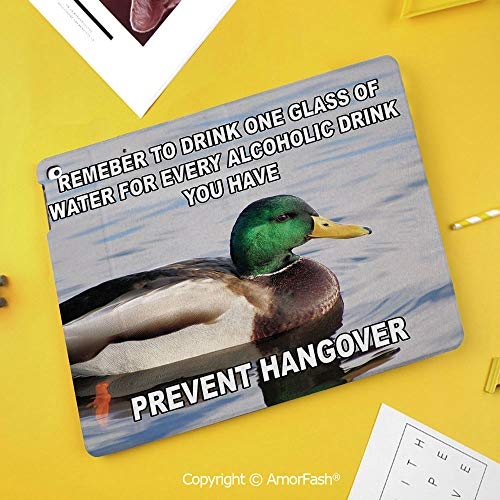 Printed Case for Samsung Galaxy Tab S4 10.5 SM-T830 T835 T837 Tablet Kids Safe,Animal Decor,Cute Mallard Duck Swimming on The Lake River Green Feathers Nature Print,Multicolor
