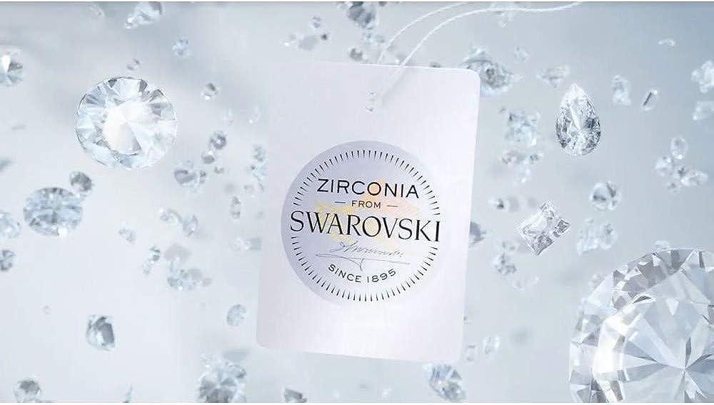 SILVEGO Bague de Fian/çailles JJJR2339sw Argent 925//1000 avec Swarovski/® Zirconia