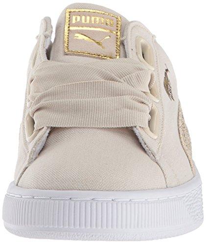 PUMA Basket Women's Team Birch Gold Canvas puma Heart White puma Sneaker Wn nxnfWrA