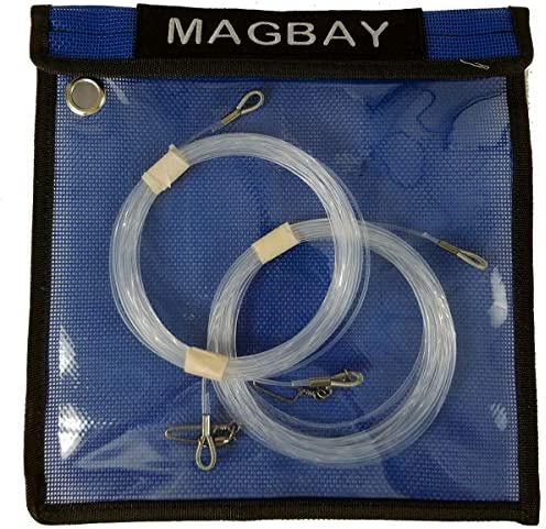 MagBay Lures 優れたWahoo ショックリーダー 400ポンド 2個パック