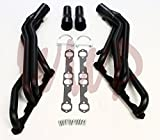 1997 chevy truck headers - Black Coated Performance Exhaust Header Manifold System Kit For 96-99 Chevy/GMC GM Blazer C1500 K1500 Jimmy Suburban Tahoe Yukon Pickup Truck 5.0L 5.7L V8 With EGR