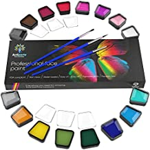 Face Paint Set – Premium Face Painting Kit for Kids & Adults – Non-Toxic & Hypoallergenic – Easy to Apply & Remove – New 2018 Edition