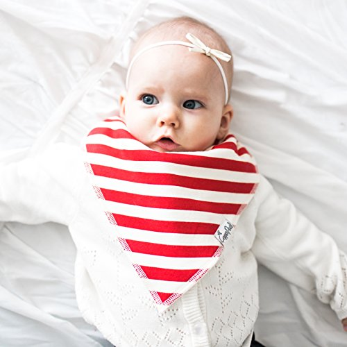 "Baby Bandana Drool Bibs for Drooling and Teething 4 Pack Gift Set For Boys and Girls ""Alpine Set"" by Copper Pearl"