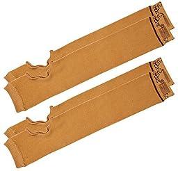 SecureSleeves® (2 Pairs) Geri Sleeves for Arms, Brown - Protects Sensitive Skin from Tears & Bruising (Large: 16.5\