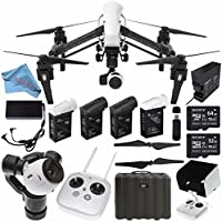 DJI Inspire 1 v2.0 Quadcopter with 4K Camera and 3-Axis Gimbal CP.BX.000103 + DJI Remote Controller Monitor Hood for Inspire 1 (for Tablets) + DJI TB47 Intelligent Flight Battery (99.9Wh) Bundle