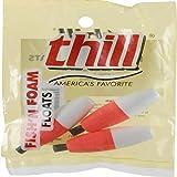 Thill Fish'N Foam Cigar Floats - Red/White - 2 in - Slip-Peg