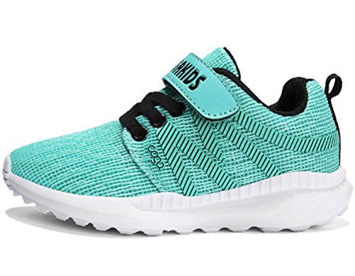 DADAWEN Boy's Girl's Breathable Strap Casual Tennis Athletic Sneakers Running Shoes Light Green US Size 6 M Big Kid by DADAWEN (Image #1)