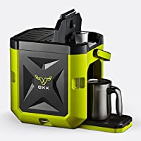 OXX COFFEEBOXX Hi Viz Single Serve Coffee Maker (Green)