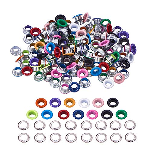 - NBEADS 195 Sets of Assorted Color Metal Grommets Eyelets Buckle Rivets for Leather Shoes Clothes Scrapbooking DIY Crafts