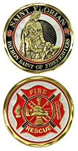 NEW Saint Florian Firefighters Challenge Coin by Eagle Crest