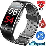 Ereon Sport Fitness Tracker HR - IP68 Waterproof Smart Watch with Heart Rate Monitor Oxygen Monitor Blood Pressure Sleep Monitor Outdoor Swim Run Pedometer Smart Wristband (Black)