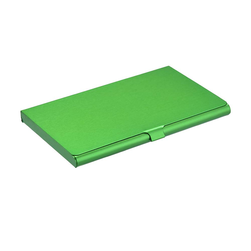 Sonmer Creative Aluminum Holder Metal Cover Credit Business Card Wallet (Green)