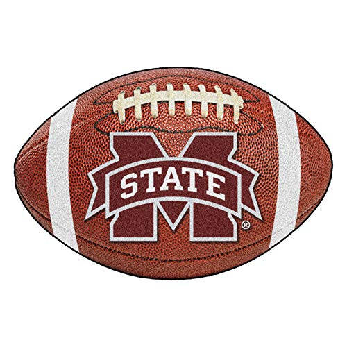(FANMATS NCAA Mississippi State University Bulldogs Nylon Face Football Rug)