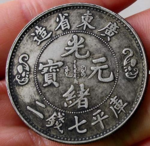 JS CHOW Chinese Qing Guangxu Yuanbao Dragon Auspicious Lucky Coins