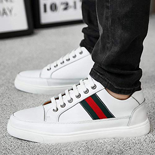 8 8 8 White Lifestyle Men's Boy's Sneakers Stripe UK UK UK UK 5 ZHRUI Basic Dimensione Colore 5Yt8xw4wq