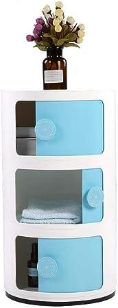 Bianco per Casa Corridoio Bagno Camera da Letto Stoccaggio Rotonda Comodino Armadio ABS Contenitore 4 Elementi 76 x 32 x 32 cm Base Tonda